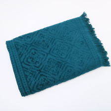 Jacquard Velour Twin Pack Fringed Egyptian Towels