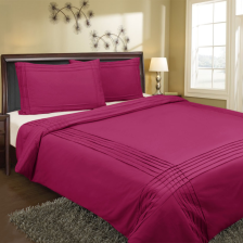 Pin Tuck Quilt Cover Set - Single