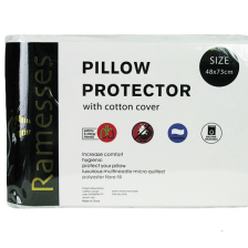 Polyester Pillow Protector- Quilted Cotton Cover