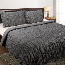 Ruched Quilt Cover Set - King